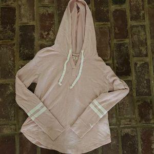 Hollister pink varsity style pullover